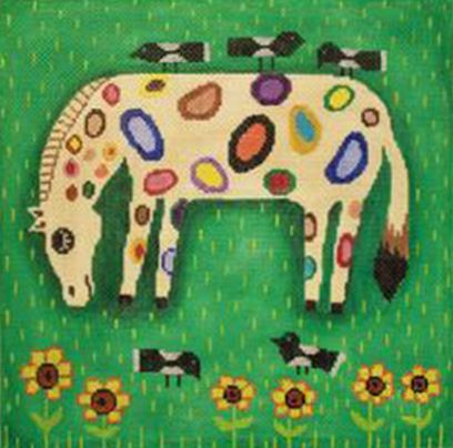 click here to view larger image of Spotted Horse (hand painted canvases)