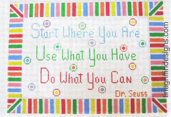 click here to view larger image of Start Use Do (hand painted canvases)