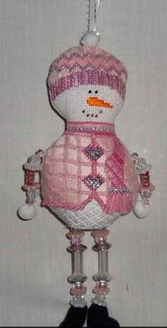 click here to view larger image of Mrs Snowman (hand painted canvases)