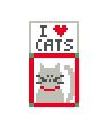 click here to view larger image of I Love Cats (hand painted canvases)
