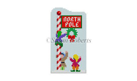 click here to view larger image of Santa Village - North Pole (hand painted canvases)