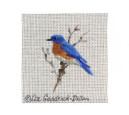 click here to view larger image of Blue Bird on Branch (hand painted canvases)