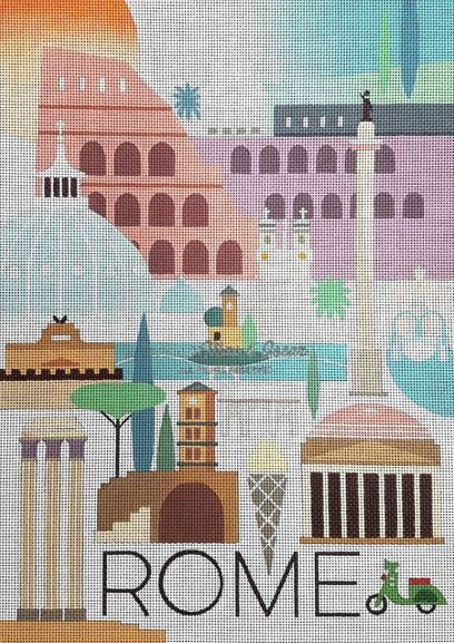 click here to view larger image of Rome (hand painted canvases)