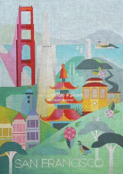 click here to view larger image of San Francisco (hand painted canvases)
