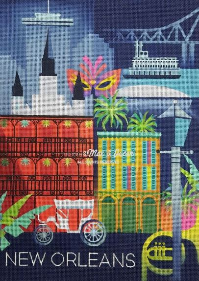 click here to view larger image of New Orleans (hand painted canvases)