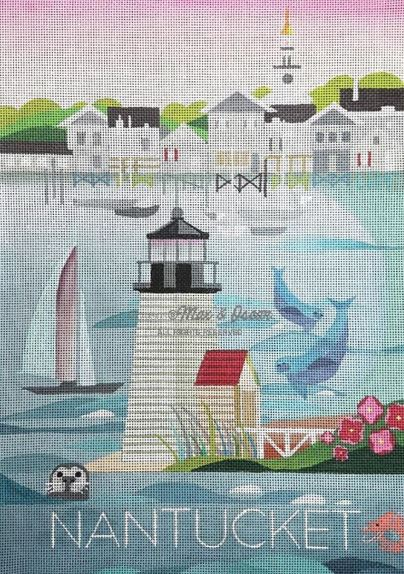 click here to view larger image of Nantucket (hand painted canvases)