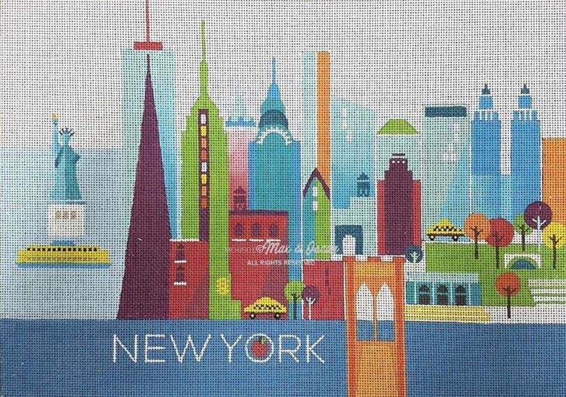 click here to view larger image of New York (hand painted canvases)
