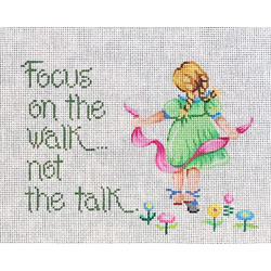 click here to view larger image of Focus on the Walk not the Talk (hand painted canvases)