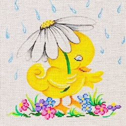 click here to view larger image of Baby Duck in Rain (hand painted canvases)