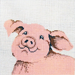 click here to view larger image of Cute Pig (hand painted canvases)