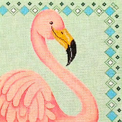 click here to view larger image of Single Flamingo (hand painted canvases)