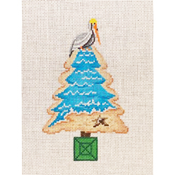 click here to view larger image of Pelican on Tree Top (hand painted canvases)