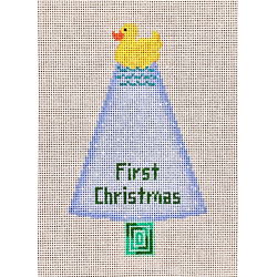 click here to view larger image of Rubber Ducky First Christmas - Blue (hand painted canvases)