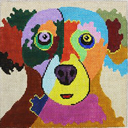 click here to view larger image of Dog - Cookie Please (hand painted canvases)