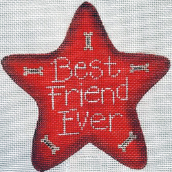 click here to view larger image of Best Friend Ever Star (hand painted canvases)