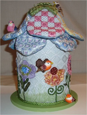 click here to view larger image of 3D Flower Birdhouse (hand painted canvases)