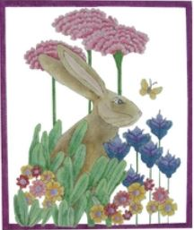 click here to view larger image of Bunny in the Garden (hand painted canvases)