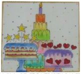 click here to view larger image of Celebrate with Cake (hand painted canvases)