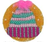click here to view larger image of Frosty Hat 1 (hand painted canvases)