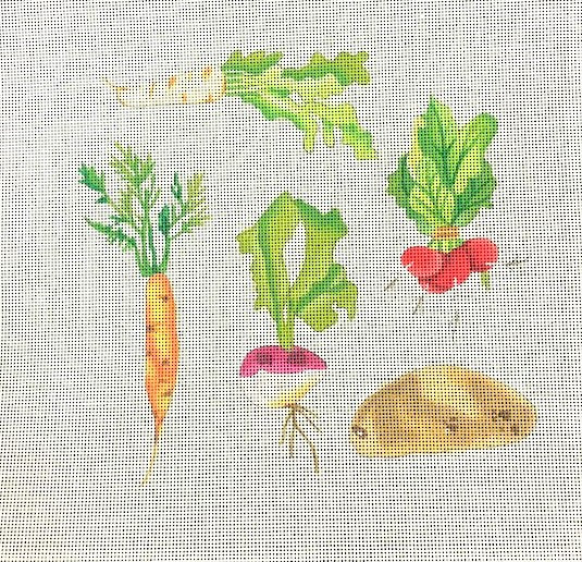 click here to view larger image of Vegetables (hand painted canvases)