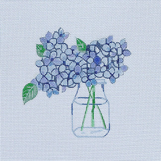 click here to view larger image of Hydrangea in Water (hand painted canvases)