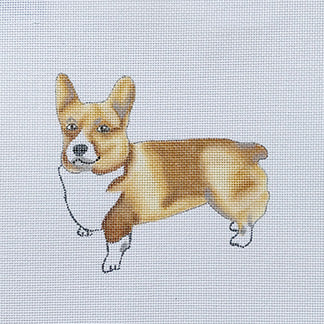 click here to view larger image of Corgi (hand painted canvases)
