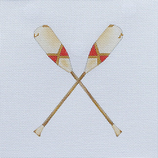 click here to view larger image of Oars - Red (hand painted canvases)