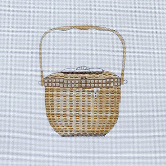 click here to view larger image of Nantucket Basket (hand painted canvases)