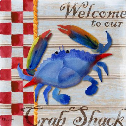 click here to view larger image of Chesapeake Crab  (hand painted canvases)