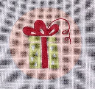 click here to view larger image of Light Green Package Ornament (hand painted canvases)