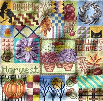 click here to view larger image of Autumn Quilt (hand painted canvases)