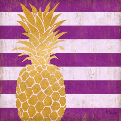 click here to view larger image of Gold Coast Pineapple - Purple (hand painted canvases)