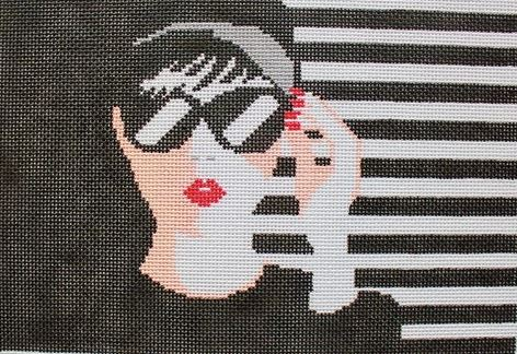 click here to view larger image of Audrey Bag (hand painted canvases)