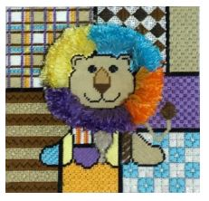 click here to view larger image of Colorful Lion (hand painted canvases)