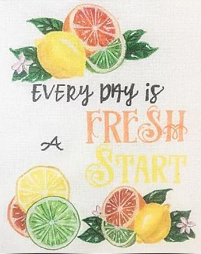click here to view larger image of Every Day is a Fresh Start (hand painted canvases)