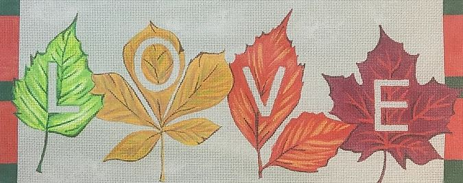 click here to view larger image of Love Fall (hand painted canvases)