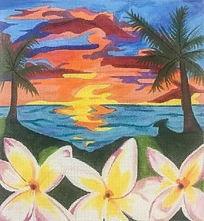 click here to view larger image of Hawaiian Bliss (hand painted canvases)