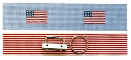 click here to view larger image of Fab Fob - American Flag (hand painted canvases)