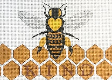 click here to view larger image of Bee Kind (hand painted canvases)