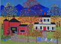 click here to view larger image of Hermans Farm (hand painted canvases)