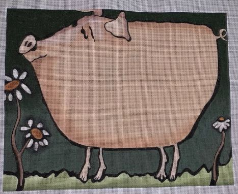 click here to view larger image of Pink Pig (hand painted canvases)