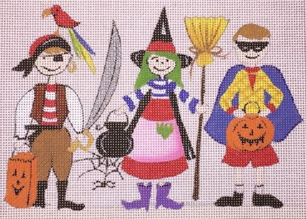 click here to view larger image of Halloween Kids (hand painted canvases)