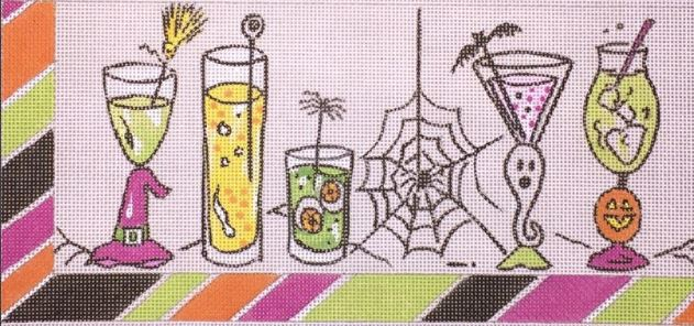click here to view larger image of Halloween Drinks (hand painted canvases)
