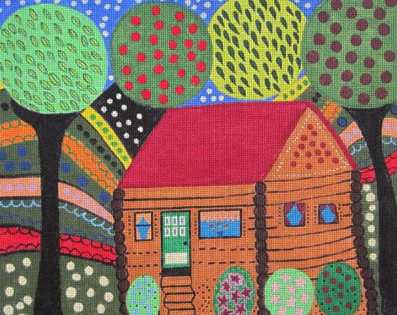 click here to view larger image of House in the Hills (hand painted canvases)