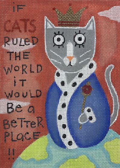 click here to view larger image of Cats Rule (hand painted canvases)