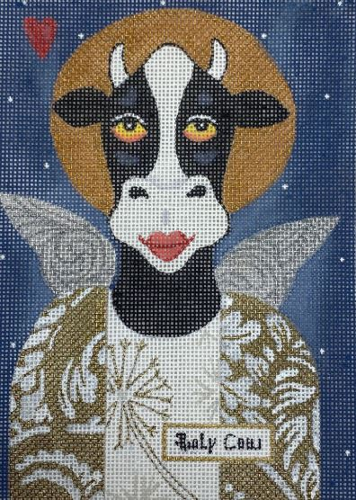 click here to view larger image of Holy Cow (hand painted canvases)