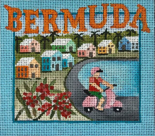 click here to view larger image of Postcard - Bermuda (hand painted canvases)