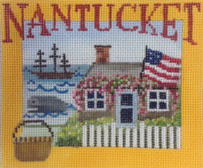 click here to view larger image of Postcard - Nantucket (hand painted canvases)