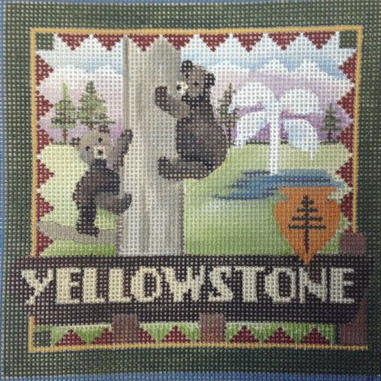 click here to view larger image of Postcard - Yellowstone (hand painted canvases)
