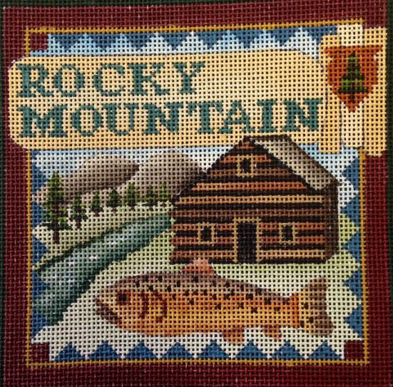 click here to view larger image of Postcard - Rocky Mountain (hand painted canvases)